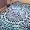 Blue Mandala Bedspread