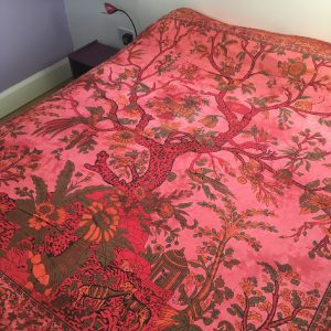 Red Tree of Life Bedspread