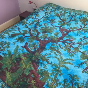 Turquoise Tree of Life Bedspread