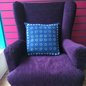 Indigo Flower Cushion
