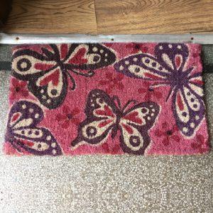 Pink Butterflies Doormat