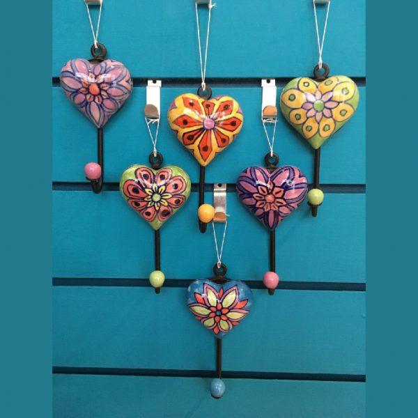 Heart Ceramic Hook