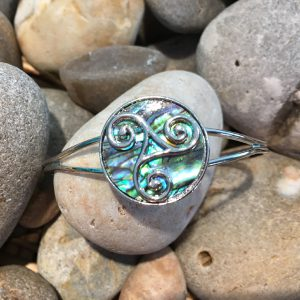 Silver Swirl Bangle Presentation