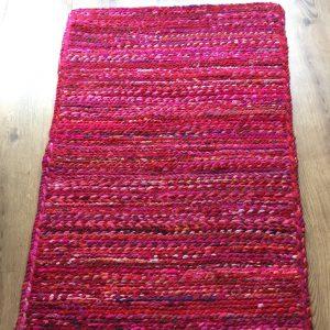 Red Braided Cotton Chindi Rug