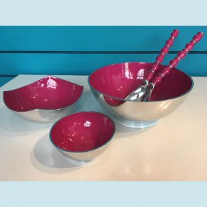 Hot Pink Recycled Aluminium Salad Range