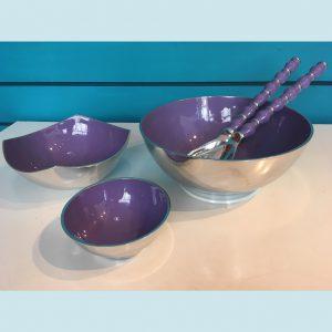 Purple Recycled Aluminium Salad Range